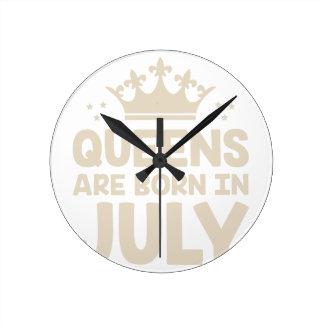 July Queen Round Clock