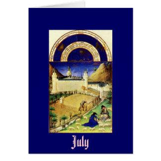 July, the Tres Riches Heures du Duc de Berry Card