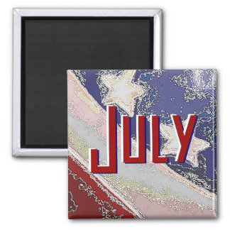 July To Do List Magnet (Stars and Stripes)
