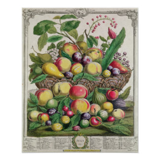 July, 'Twelve Months of Fruits' Poster
