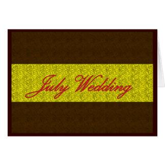 """July Wedding"" Card - Customizable Greeting Card"