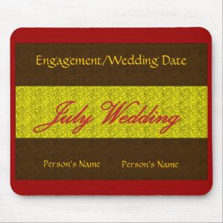 """""""July Wedding"""" Mousepad -Customizable"""