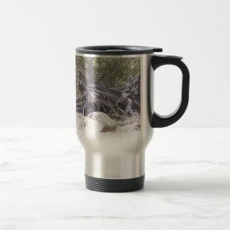 Jumble of Aging Wood Stainless Steel Travel Mug