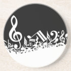 Jumble of Musical Symbols Coaster