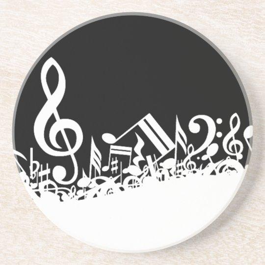 Jumble of Musical Symbols Coaster