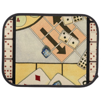Jumbled Assortment of Games of Chance Car Carpet