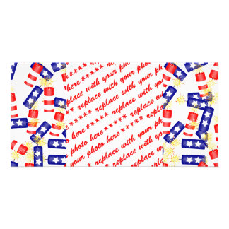 Jumbled Firecrackers for the 4th of July Custom Photo Card