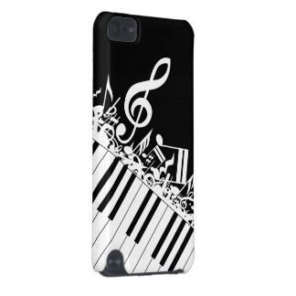 Jumbled Musical Notes and Piano Keys iPod Touch (5th Generation) Covers