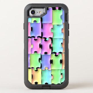 Jumbled Pastel Tiles Puzzle OtterBox Defender iPhone 7 Case