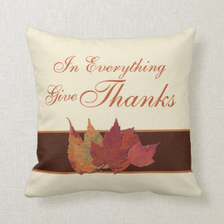 Jumbo Autumn Leaves Give Thanks Pillow