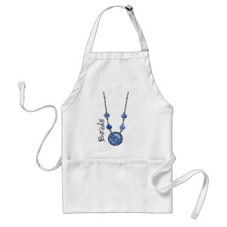 Jumbo Bead Necklace   Blue-004 Standard Apron