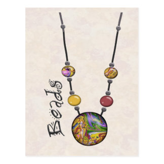 Jumbo Bead Necklace Multicolor    19 Postcard