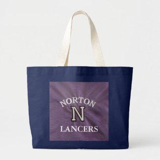Jumbo Black and Purple NORTON Tote Bag