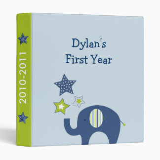 Jumbo Blue Elephant Star Baby Photo Album Binder