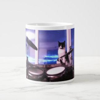 Jumbo Blues Drummer Cat Mug Jumbo Mug