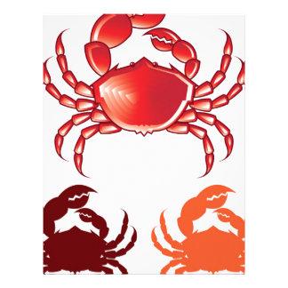 Jumbo Crab vector Letterhead