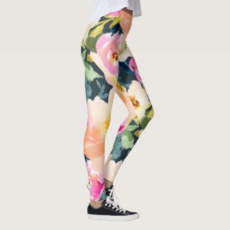 Jumbo Floral Print Leggings