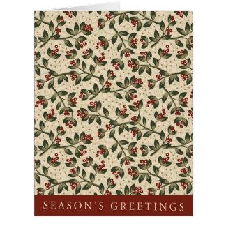 Jumbo Holiday Leaflike Seasons Greetings Card