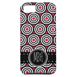 Jumbo Hot Pink Bullseye Pattern iPhone 5 Cases