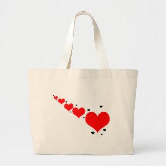 "Jumbo jet bag ""of hearts """