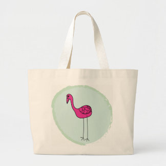 Jumbo jet carrying bag flamingo