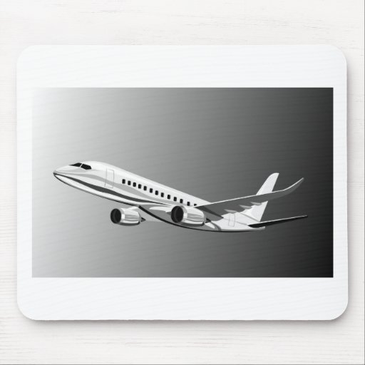 jumbo jet plane airplane aircraft flying flight mouse pad