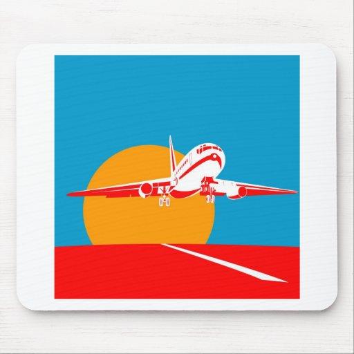 jumbo jet plane airplane aircraft flying flight mousepad