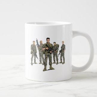 "Jumbo Mug - ""Blowback"" Marines & Logo"
