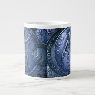 Jumbo Mug with Coin Art Decor