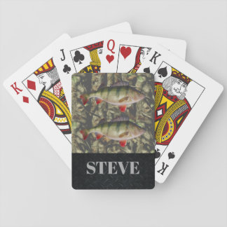 Jumbo Perch Fishing Camouflage Name Cards