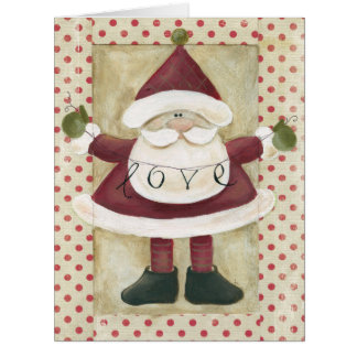 Jumbo Santa Banners Christmas Card