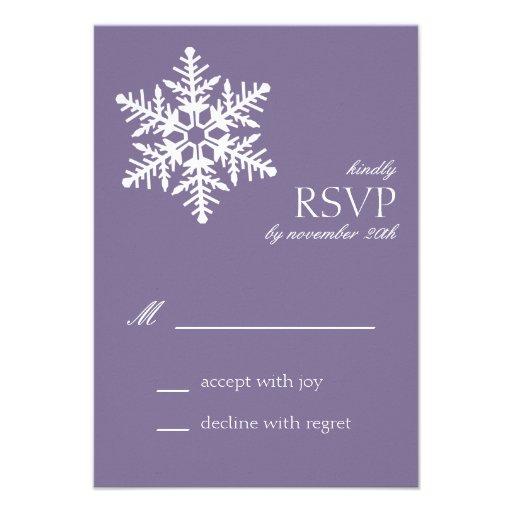Jumbo Snowflake RSVP Cards (Eggplant Purple)