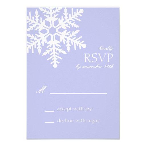 Jumbo Snowflake RSVP Cards (Violet Purple) Invitation