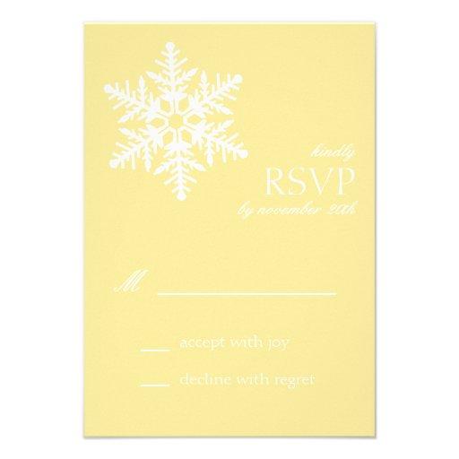 Jumbo Snowflake RSVP Cards (Yellow)