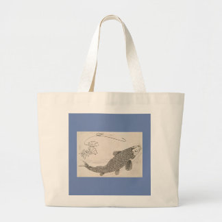 JUMBO TOTE BAG JAPANESE KOI FISH