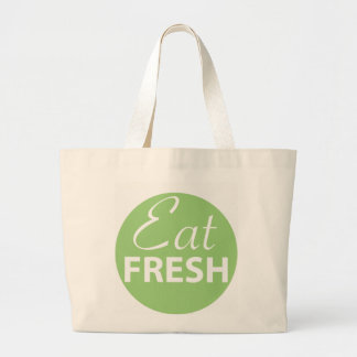 Jumbo Tote Bag with Delicious Green Logo