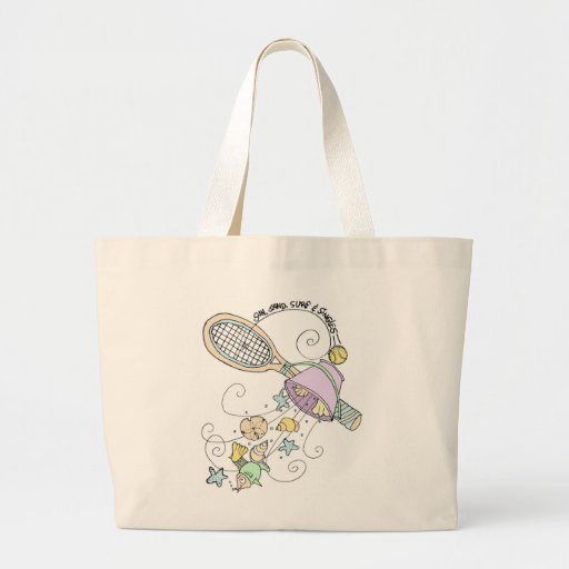 Jumbo Tote -Sun & Singles Canvas Bag