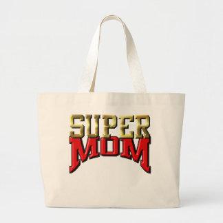 "Jumbo Tote - ""SUPER MOM"" Canvas Bag"