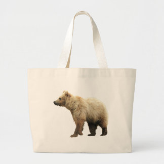 Jumbo tote with bear cub
