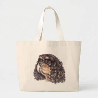 Jumbo Tote with Max The Cavalier