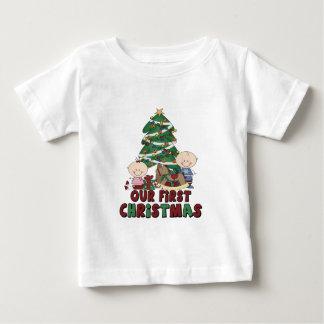 Jumeaux garçon et Noël de fille premier Tshirts