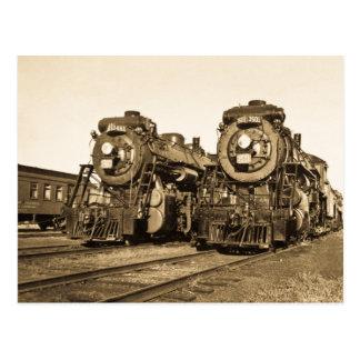 """""""Jumelle"""" les locomotives 3461 et 3501 de chemin Carte Postale"""