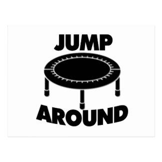 Jump Around Trampoline Postcard