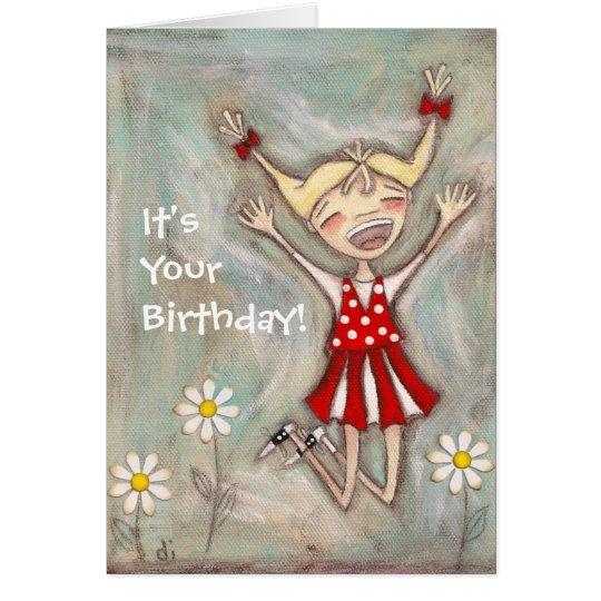 Jump for Joy - Birthday Card