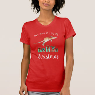 Jump for joy Kangaroo Christmas t-shirt