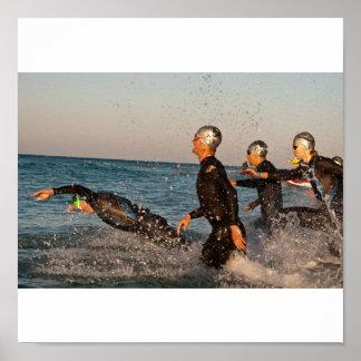 Jump into Ocean Poster