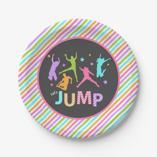 Jump paper plate / trampoline paper plate 7 inch paper plate