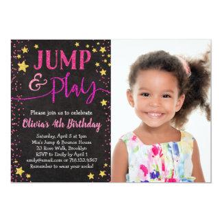 Jump & Play Birthday Invitation With Photo