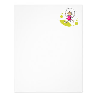 Jump Rope Personalized Letterhead