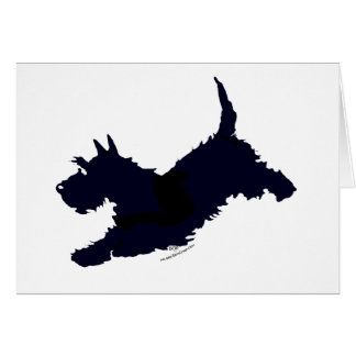 Jump!  Scottish Terrier on the Go Card
